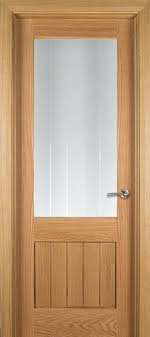 genoa 1 lite unglazed oak door 40mm