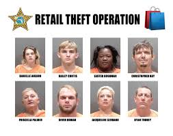 VIDEO: Deputy hit by car by alleged shoplifter; she and 7 others arrested  in retail theft sting