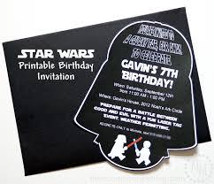 Star Wars Birthday Invitations Printable Star Wars Darth Vader Birthday Invitation The Scrap Shoppe