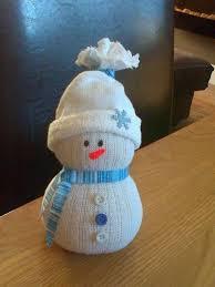 Here is a <b>sock snowman</b>...made using white <b>socks</b>,elastic bands ...