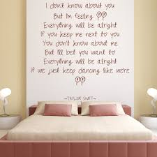feeling wall sticker taylor epic taylor swift wall decal