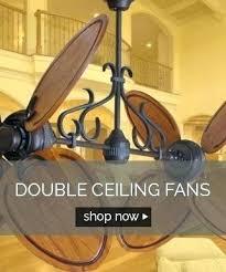 double ceiling fans outdoor oscillating fan with light inch metropolitan satin steel plate