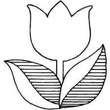 Small Picture Coloring Book Flowers Outline Tulip Flower free coloring sheet