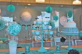 Karau0027s Party Ideas Showered From Above Rain Boy Baby Shower Baby Shower Party Table Decorations
