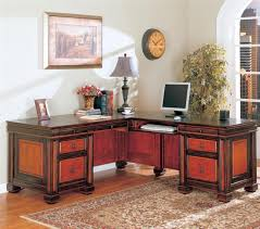l shaped desk for two. Beautiful For Coaster Furniture 800691 Traditional L Shaped Desk In Two Tone Finish Throughout For E