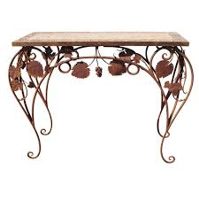 wrought iron furniture indoor. wrought iron and tile indoor outdoor console table furniture o