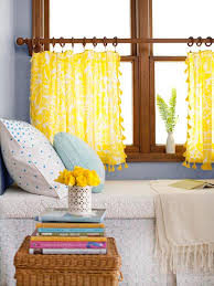 no sew curtains this treatment requires a tablecloth with a decorative edge like tassels