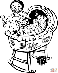 Small Picture Baby Sleeping coloring page Free Printable Coloring Pages