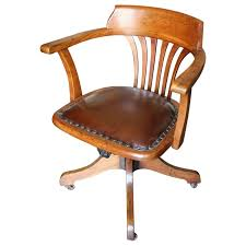 19th Century Antique Oak Office Chair For Sale Wooden Office Chairs For Sale H54