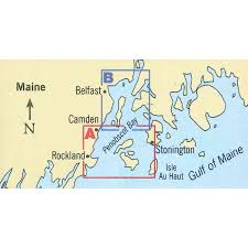 Maptech Waterproof Charts Maine Maptech Folding Waterproof Chart Penobscot Bay
