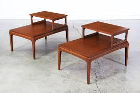 mid century rhythm two tier side tables by lane