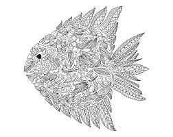 Small Picture Zentangle fish by artnataliia Zentangle Coloring pages for