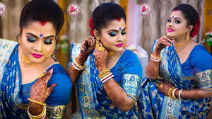 best bengali reception bridal makeup step by step demonstration by mayuri sinha sarkar