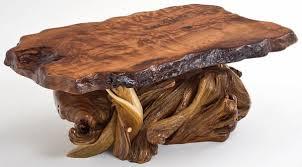 Rustic Furniture Coffee Table Slab Redwood