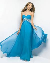 blue multi colored prom dresses