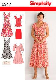 Summer Dress Patterns Amazing Simplicity Sewing Pattern 48 BB MissPlus Size Dresses Amazonco