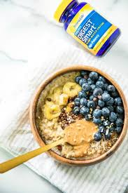 treat yourself with a warm bowl of this delicious easy blueberry banana oatmeal healthy