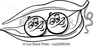 peas clipart black and white. Brilliant White Black And White Cartoon Humor Concept Illustration Of Like Two Peas In A  Pod Saying Or Proverb For Coloring Book Throughout Clipart And I