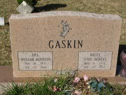 """Sybil """"Bruce"""" Bowers Gaskin (1916-1999) - Find A Grave Memorial"""