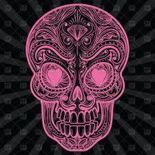 Pink Mexican Sugar Skull Tattoo Stock Vector Image
