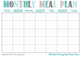 monthly meal planner template maisdeumbilhao passamfome monthly meal planner template new