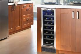 Cabinet With Wine Cooler Dwc276bls Silhouette 27 Bottle Built In Wine Cooler With Stainless