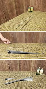 traditional shower drains can be a pain to clean however with linear drains the grate or tile covering