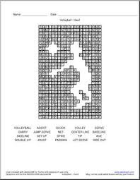 Volleyball Word Word Search Volleyball Terminology Hard Abcteach