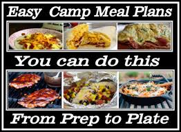 Cub Scout Meal Planning Chart Easy Camp Meals Planning Your Camping Menu