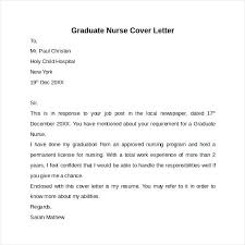 Example Of Cover Letter Resume Cover Letter Template Graduate Nurse