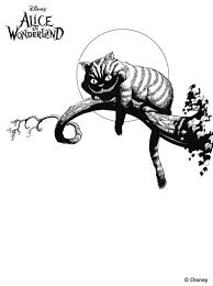 Small Picture Cheshire Cat clipart coloring page Pencil and in color cheshire