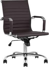 <b>Кресло офисное TopChairs City</b> S коричневый/хром купить за 6990