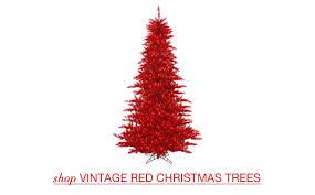 Vintage Green Christmas Trees; Vintage Red Christmas Trees