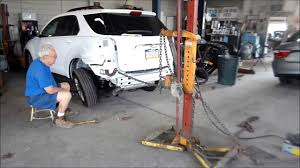 auto body frame pulling for quarter panel replacement