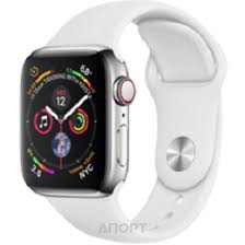 Apple Watch Series 4 GPS + LTE 40mm Stainless Steel Case with ...