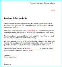 Landlord Reference Letter Page 1