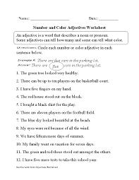 Adjective Worksheet Color Circle - kindergarten worksheets names ...