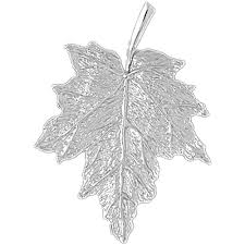 sterling silver 925 maple leaf pendant sterling silver pendants at jewelsobsession com