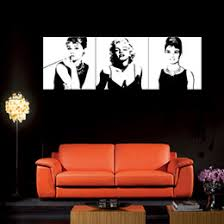 3 panel art large classic marilyn monroe and audrey hepburn picture painting on canvas print modern home decorations wall art on home decor wall art nz with audrey hepburn canvas wall art nz buy new audrey hepburn canvas