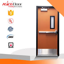 ASICO Steel Fire Rated School Interior Single Leaf Door With UL ...