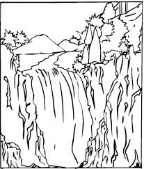 Waterfall Realistic Coloring Pages Print Coloring