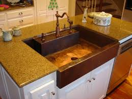 Kitchen Sinks With Granite Countertops Copper Kitchen Sink A Container Of Water In The Container And