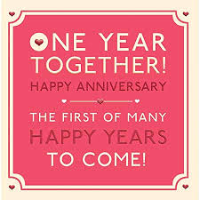 Hotchpotch One Year Together Anniversary Card Amazoncouk Kitchen Awesome One Year Anniversary Quotes