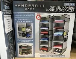 create more space with the vanderbilt home swivel hanging 6 shelf closet organizer