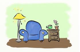 comfy chair drawing. comfy chair storytelling drawing