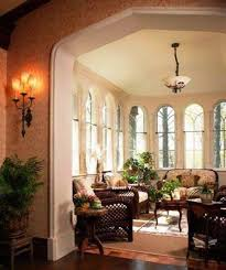 lighting in homes. Home Design And Decor , Tudor Style Homes Interior : Sunroom With Wicker Lighting In K