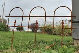 small border metal fencing 16 tall
