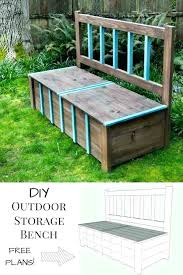 outdoor storage bench plans waterproof ideas