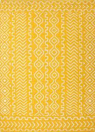 flat weave tribal yellow ivory wool area rug directional flat