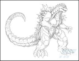 You can print or color them online at getdrawings.com for absolutely free. A Detailed Sketch Of Almighty Godzilla Coloring Page Letscolorit Com Monster Coloring Pages Coloring Pages Coloring Pages To Print